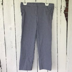 Gingham ankle pants Cynthia Rowley size 10